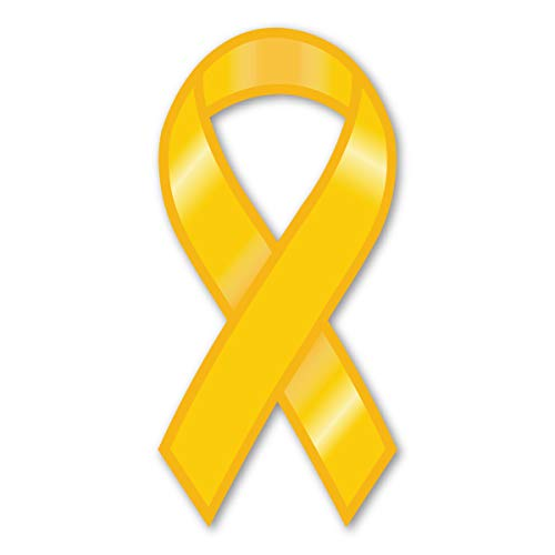 Plain Yellow Ribbon Magnet