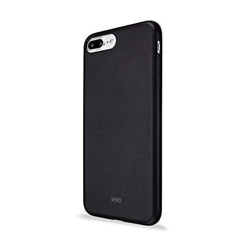 Artwizz TPU Case für iPhone 8 Plus & 7 Plus - Ultra-Flache Schutz-Hülle aus TPU - mit Matter Rückseite und glänzendem Displayrahmen - UV-Resistent - Designed in Berlin - schwarz - 0975-1847