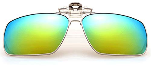 Gafas de Sol con Clip Flip-Up para Gafas Graduadas de Hombre y Mujer. Lentes Polarizadas UV400 Protección 100% UV ajuste cómodo y seguro sobre gafas de sol para conducción y al aire libre