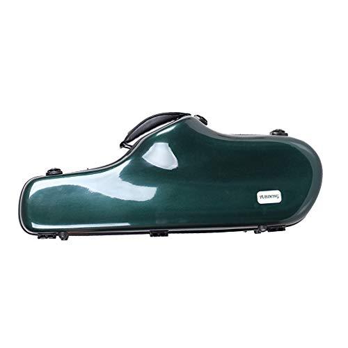 HomeDecTime Alt Saxophon Koffer Gigbag, Saxophon Tasche Tragetasche Saxophon Hardcase aus FRP mit Rucksackriemen - Grün