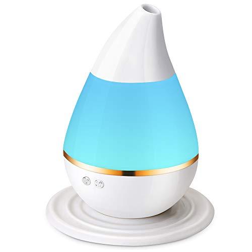 Humificadores de Aromaterapia, Gayrrnel 250ML 7 Luces LED Difusores de Aceites Esenciales Purificador de ambiente - Silencioso Modo Intermitente y Continuo - Apagado Automático, Ultrasónico de Vapor Ideal para Regalar