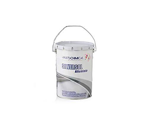 MULTICHIMICA - SILVERSOL - 5 lt - Vernice Alluminio per Manti BITUMINOSI