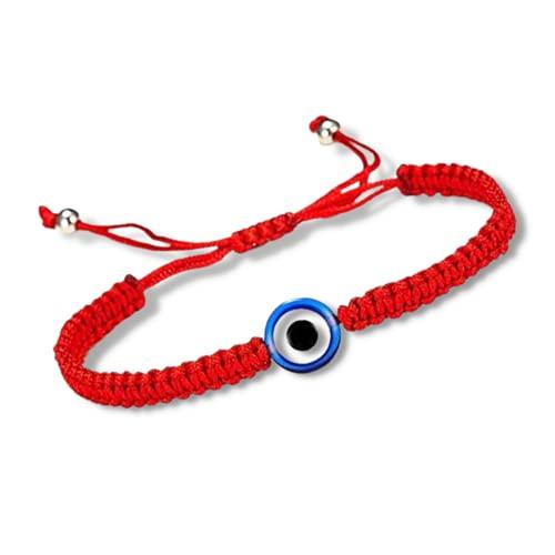 Ojo Turco Pulsera Amuleto Proteccion Mal de Ojo Kabbalah Pulsera Ajustable Hilo Rojo del Destino Pulsera Ojo Griego Pulsera Tibetana