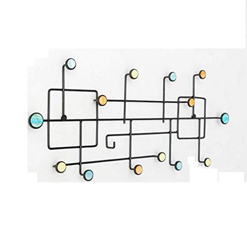 YLCJ plafondhaak, smeedijzer, installatie zonder boren, om op te hangen aan de muur, robuust en duurzaam, voor meubels