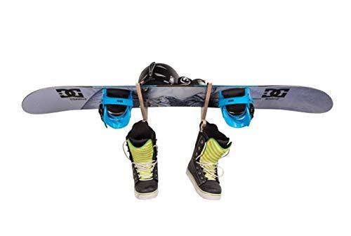 AKR Sport Snowboard Muur Mount Houdt Sport Snowboard Houder Rack Binnen Buiten Garage Surfboard Snowboard Mount Muur Snowboard Rack Houten (Beige, TIDY 1)