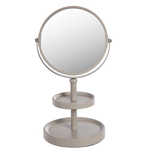 Miroir sur pied - 2 plateaux - Taupe