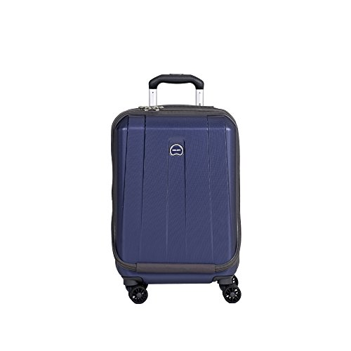 DELSEY Paris Delsey Luggage Helium Shadow 3.0 19 Inch International Carry On Expandable Spinner Suiter Trolley (Navy)