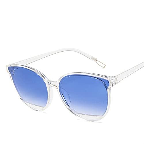 SLAKF Gafas duraderas Moda Gafas de Sol Mujeres Vintage Eyeglasses Mirror Espejo Clásico Vintage UV400 (Lenses Color : Blue)