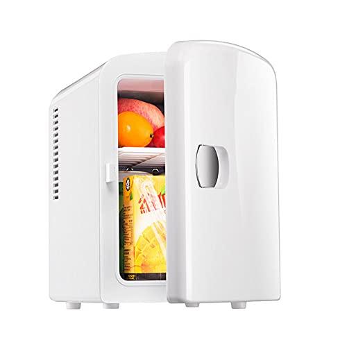 Cakunmik 2 en 1 Mini Nevera, 5 litros con función de refrigeración y calefacción, congelador eléctrico portátil pequeño congelador para automóviles, Camping, camión, Oficina, USB