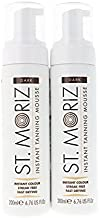 St Moriz Instant Self Tanning Mousse in Dark Tone - All Skin Types - 2 x 200 ml