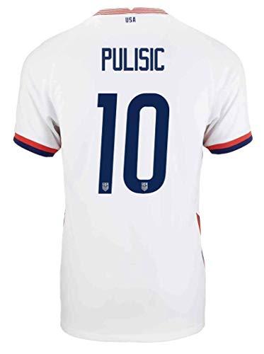 Christian Pulisic USA 2020-21 Home Jersey (US Youth Size Medium) White