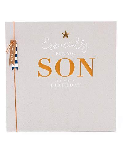 Geburtstagskarte für den Sohn – Geburtstagskarte für Männer – Geburtstagskarte für ihn – modernes Design mit goldenem Schriftzug
