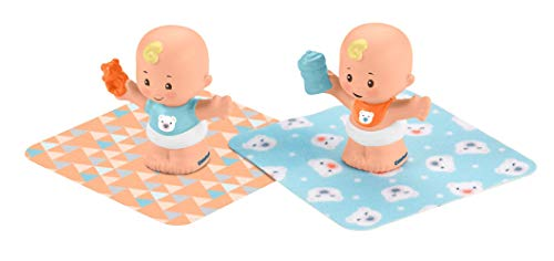 Fisher-Price Little People Snuggle Twins Figure Set for Toddlers, Blonde