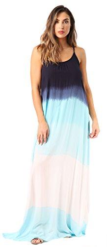 Riviera Sun 21819-NW-3X Summer Dresses Maxi Dress Sundresses for Women Navy White