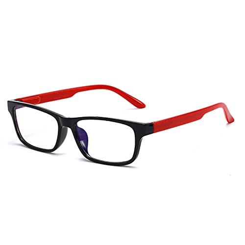 LSJA0 gafas luz azul transparente Anti-Fatiga UV Protección Ojo Ordenador Teléfono Móvil PC Juego Gafas-rojo