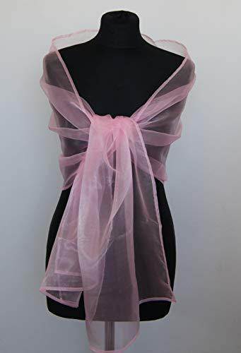 Chal organza color rosa pink chicle novia boda novia para vestido de fiesta