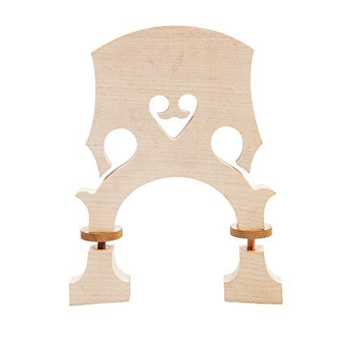Homyl 1 pieza bajo arce vertical con puente de madera ajustable para contrabajo 4/4 3/4 1/2 1/2 para juego de recogida para amantes de la música