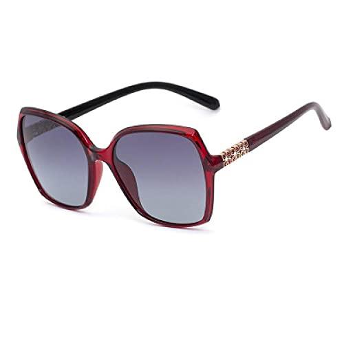 DLSM Gafas de Sol con Marco Grande Retro Gafas de Sol tachonadas Muy adecuadas para Correr, montaña, Bicicleta, Motocicleta, conducción, Golf, Pesca,-Col.4