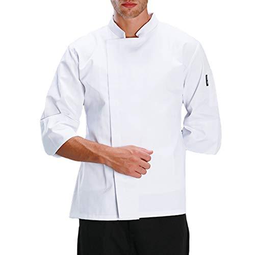 DNJKH Herren Bäckerjacke Hotel Arbeitskleidung Schlank Fähig Küche Bekleidung