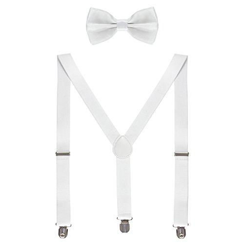 HBF mehrfarbig elastisch Hosenträger Y-Form Länge für Damen und Herren mit den starken Clips Playshoes und Fliege in verschiedenen Designs, 3, One size