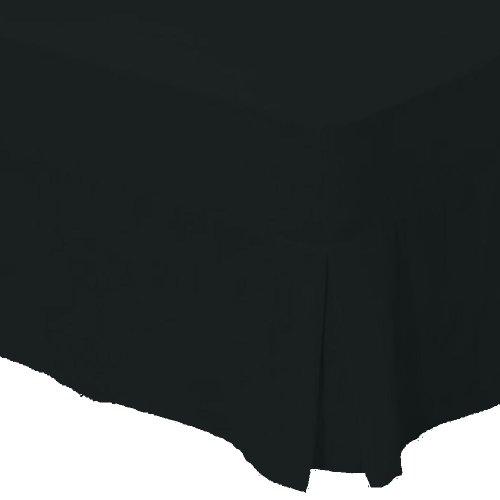 Biancheria limitata Bedskirt 2 persone polycotton percalle 180 figlio, nero, 135 centimetri x 190 centimetri per