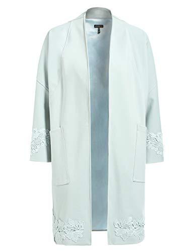 APART eleganter Damen Mantel, kurz, Light-Mint, mit Spitze, 7/8-Ärmel, mit verdeckten Häkchen zu schließen, klassischer Schnitt, Light Mint, 36
