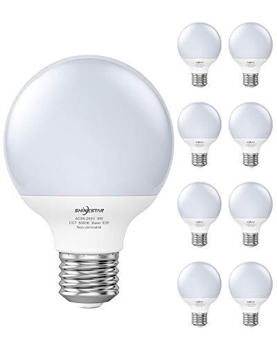 SHINESTAR 8-Pack Bright LED Globe Light Bulbs for...