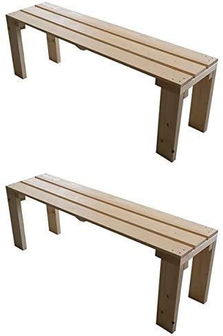 TOTAL WOOD 2012 2X Banco de Madera para jardín Interior Exterior 150x38.5x50H Disponible TANBIEN A Medida!