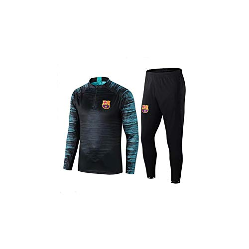 Autumn Sweater Barcelona Football Training Suit Appearance Team Uniform Stovepipe Pants Half Zipper Sportswear Black