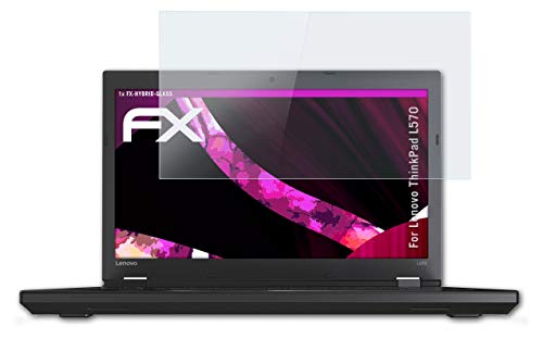 atFolix Glasfolie kompatibel mit Lenovo ThinkPad L570 Panzerfolie, 9H Hybrid-Glass FX Schutzpanzer Folie