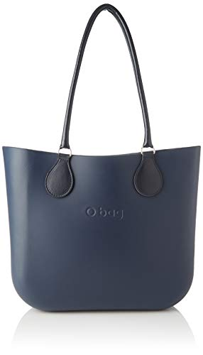 O bag Damen Borsa Obag Clutch, Blau (Blu Navy), 38x15x38 Centimeters