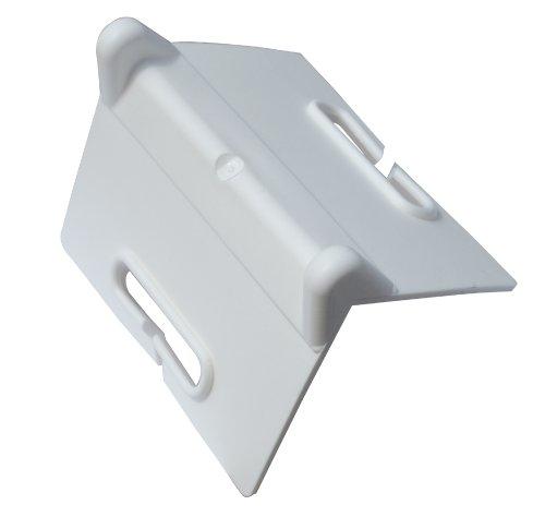 Braun randbeschermhoek, PVC, kleur wit, met sleuven, voor spanbanden tot 75 mm bandbreedte
