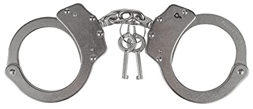 Viper TACTICAL - Menottes Professionnelles/de Police - avec 2 clés - Solide/Acier à revêtement en Nickel - numéro de série Individuel