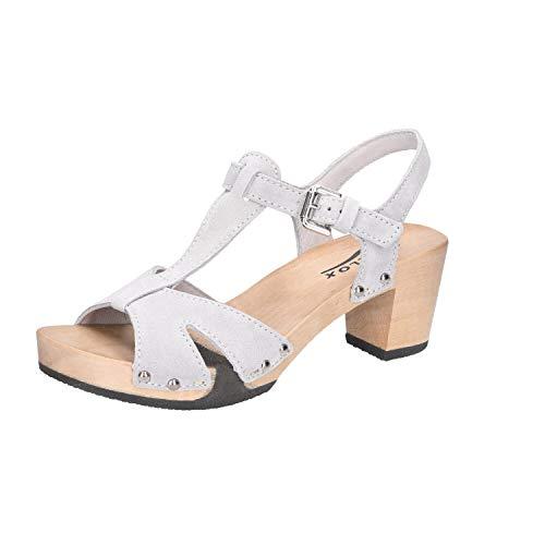 Softclox S3482 Rosaria - Damen Schuhe Sandaletten - grau, Größe:37 EU