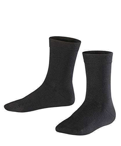 FALKE Kinder Socken Family - 94prozent Baumwolle, 1 Paar, Schwarz (Black 3000), Größe: 31-34