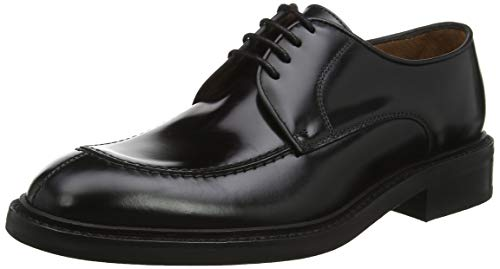 Lottusse L6711, Zapatos de Cordones Derby para Hombre, Negro (Jocker P. Negro Jocker P. Negro), 42 EU