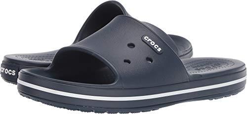Crocs Crocband III Slide, Zoccoli Unisex-Adulto, Bianco (Marine/Blanc 462), 42/43 EU