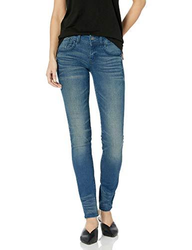 G-STAR RAW Damen Lynn Mid Waist Skinny Jeans, Blau (Medium Aged 6550-071), 27W / 30L