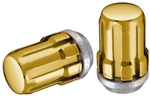 McGard 65002GD Radmuttern, SplineDrive, M12 x 1,5 Gewindegröße, Chrom/Gold, 50 Stück