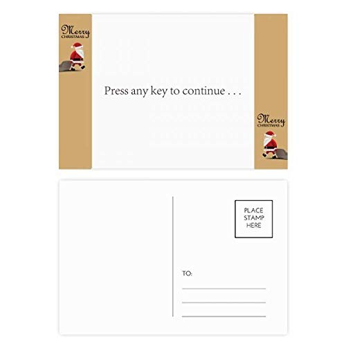 Programmer Interface Press To Continue Santa Claus Gift Postcard Thanks Card Mailing 20pcs