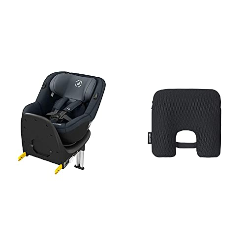 Maxi-Cosi Mica Up, silla de coche giratoria 360° Isofix, silla auto reclinable y contramarcha, desde 4 Meses aprox hasta 4 años, 61-105Cm, 18Kg + Dispositivo antiabandono para silla de coche