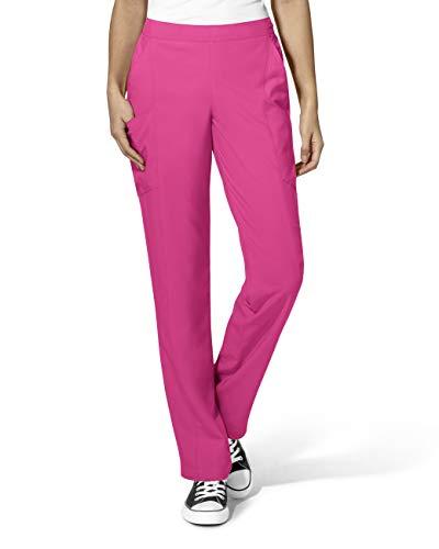 WonderWink Plus Size Women's Full Elastic Pant, Hot Pink, 1-XLarge/Tall