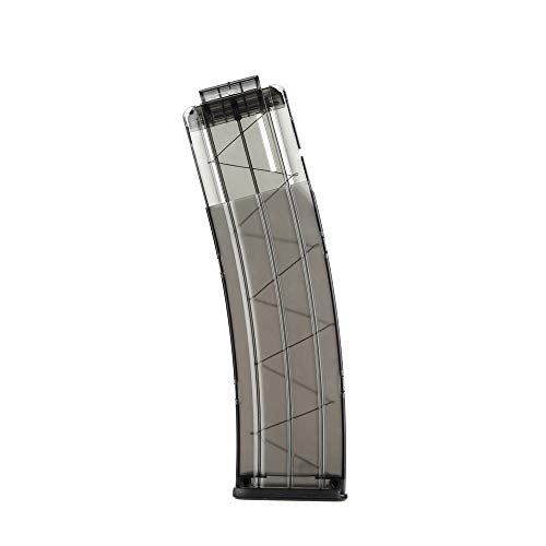 WORKER 22-Darts Banana Magazine Clip Replacement for Nerf N-Strike Elite Toy Color Black Clear