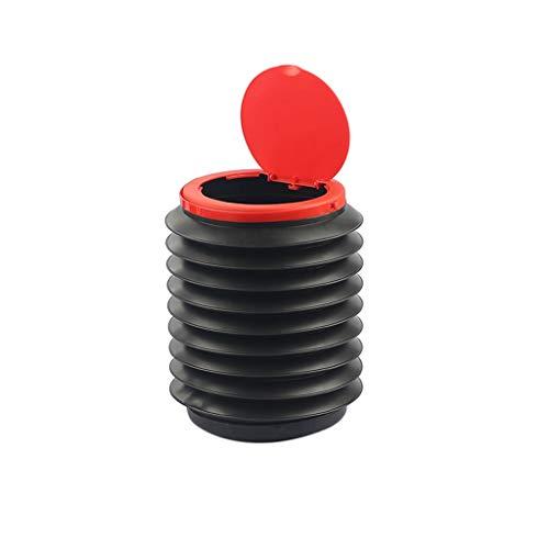 ZWWZ (1 Stück / 2 Stück) Faltbarer Plastikeimer,tragbarer Angelkübel,Klappkübel für Automobile,platzsparender Trinkbrunnen im Freien (schwarz)
