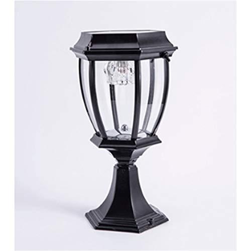 Zhongchuang zwarte smeedijzeren zuillamp, retro waterdichte LED outdoor zuillamp, tafellamp, lantaarnpaal outdoor tuinlamp