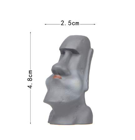 Estatuas de piedra Moai Isla de Pascua Diversión Resina Estatua gigante en miniatura Adorno de vidrio Estatuilla Jardín Decoración de hadas Decoración del hogar1pc