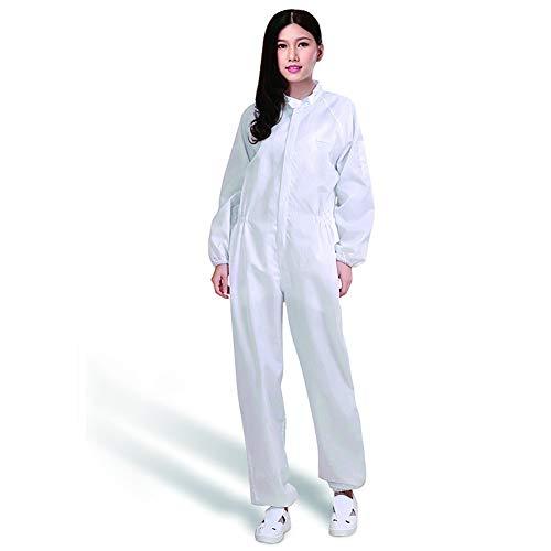 Beschermende werkkleding met opstaande kraag, anti-statisch, stofvrij, Re-Washable rompertje, Spray Coating voor Food Processing, Biotechnology,