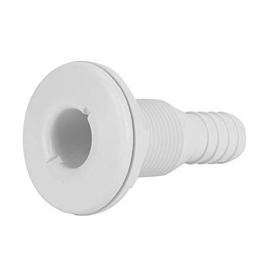 EBTOOLS 3/4in Kunststoff Marine Thru Hull Auspuffarmaturen Boat Drain Outlet Plug Weiß für Caravans/Wohnmobile/Wohnmobile/Trucks/Traktoren