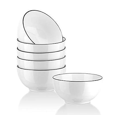 YOLIFE Large Porcelain Bowls for Cereal, Salad ...