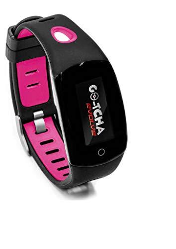 Go-Tcha Evolve LED-Touch Armband Uhr für Pokemon Go mit Auto Catch und Auto Spin – Schwarz/Pink